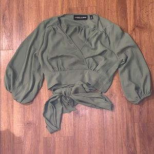 New York and Company Cropped Blouse